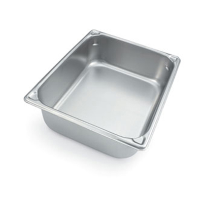 "Vollrath 30220 Steam Table Pan - 1/2 Size, 2-1/2"" Deep, 18-ga Stainless"