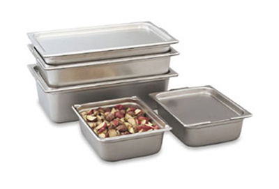 "Vollrath 30245 Steam Table Pan - Transport, 1/2 Size, 4"" Deep, 18-ga Stainless"