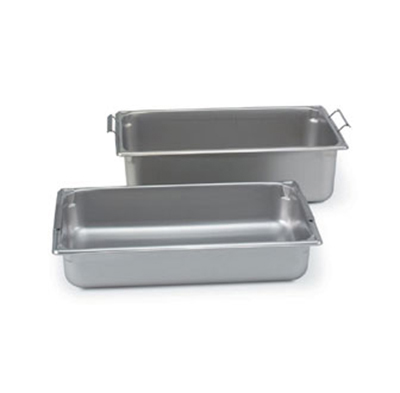 "Vollrath 30046 Steam Table Pan - Handles, Full Size, 4"" Deep, 22-ga Stainless"