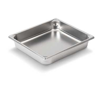 "Vollrath 30222 Steam Table Pan - 1/2 Size, 2-1/2"" Deep, 22-ga Stainless"