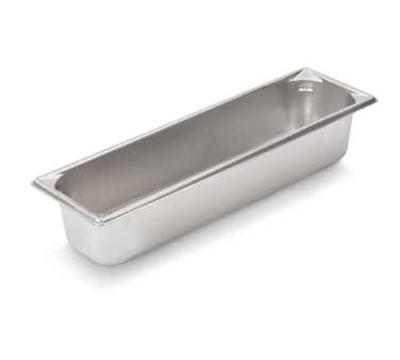"Vollrath 30542 Steam Table Pan - Long, 1/2 Size, 4"" Deep, 22-ga Stainless"
