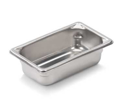 "Vollrath 30922 Steam Table Pan - 1/9 Size, 2-1/2"" Deep, 22-ga Stainless"