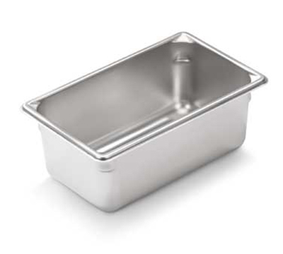 "Vollrath 30942 Steam Table Pan - 1/9 Size, 4"" Deep, 22-ga Stainless"