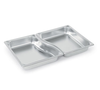 "Vollrath 3100220 Steam Table Wild Pan Set - 1/2 Size, 2-1/2"" Deep, 22-ga Stainless"