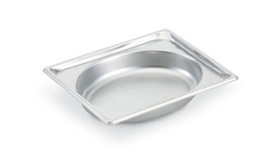 "Vollrath 3102040 Steam Table Oval Pan - Half Size, 4"" Deep, 22-ga Stainless"