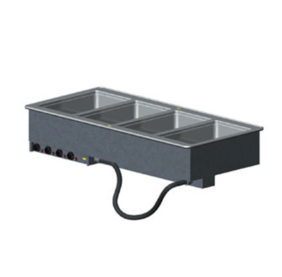 Vollrath 3640710 4-Well Modular Drop-In - Thermostat, Standard Drain, 625W, 208v