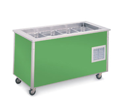 "Vollrath 37046 3-Well Cold Food Station - 6-5/8"" Deep Wells, 1/4HP Compressor, 34x46x28"