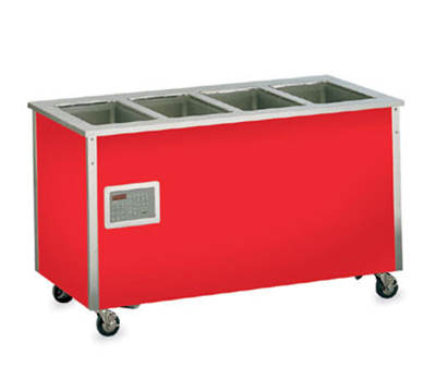 Vollrath 37050 5-Well Hot Food Station - Enclosed Base, Thermostat, Manifold Drain, 34x74x28