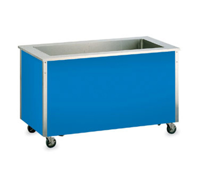 "Vollrath 36270 74"" Non-Refrigerated Cold Food Bar - 5 Full Size Pan Wells, 27x74x28, Stainless"