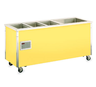 "Vollrath 36191 74"" Hot/Cold Food Station - 3 Hot Wells, 1 Cold Pan, 30x74x28"", Stainless"