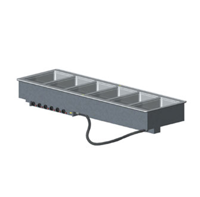 Vollrath 3640901 6-Well Modular Drop-In - Infinite, Standard Drain, 1000W, 208-240v