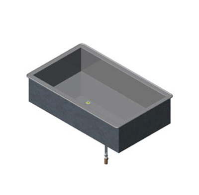 "Vollrath 36450 2-Cold Pan Modular Drop-In - Non-Refrigerated, 8"" Deep Well"