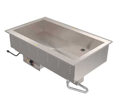 Vollrath 36501 240 2-Pan Bain Marie Drop-In - Thermostat Control, Standard Drain, 1250W 240v