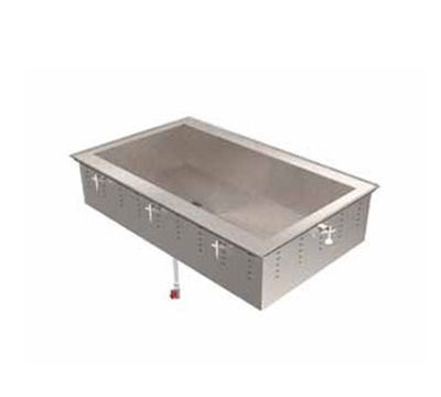 "Vollrath 36657 3-Well Short-Sided Drop-In - Non-Refrigerated, 8"" Deep"