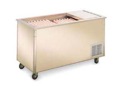 "Vollrath 37001 60"" Milk Cooler Station - 3-Door, 6-Crate Capacity, Stainless 120v"
