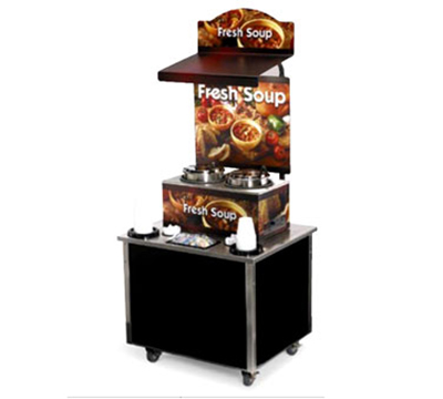 Vollrath 3702803 Soup Kiosk Merchandiser with Country Kitchen Graphics - 34x28x78