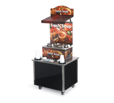 Vollrath 3702800 Soup Kiosk Merchandiser - Storage with Lock, Cup/Bowl Dispenser, 34x28x78