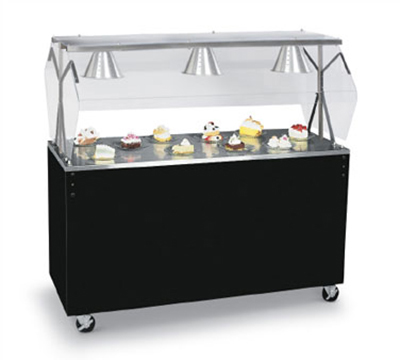 "Vollrath 3870660 60"" Utility Station - Lights, Breath Guard, Storage Base, Black"