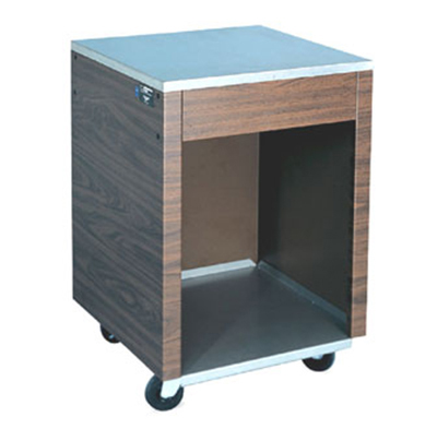 "Vollrath 38720 Cashier Station - 35x24x28"" Open Base with Shelf, Granite Wrapper, Stainless"