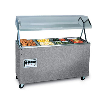 Vollrath 3872746 3-Well Hot Food Station - Lights, Breath Guard, Solid Base, Granite 120v