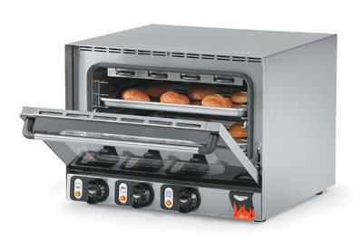 Vollrath 40701 Countertop Convection Oven - 4 Wire Shelves, Cool Touch Doors, Stainless 230v