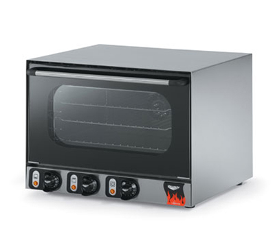 Vollrath 40703 Countertop Convection Oven - 3 Wire Shelves, Cool Touch Doors, Stainless 120v