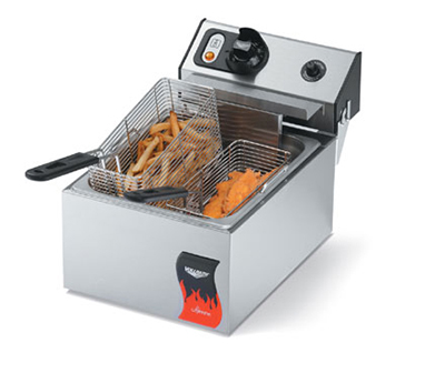 Vollrath 40706 Countertop Electric Fryer - (2) 10-lb Vat, 220v/1ph