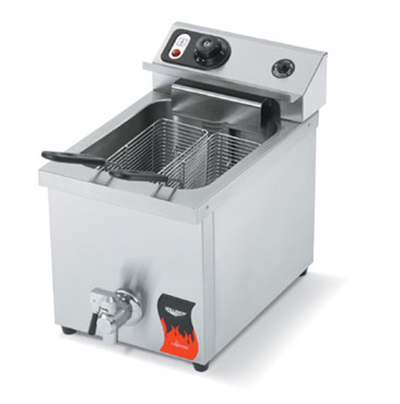 Vollrath 40709 Countertop Fryer - Single 15-lb Pot, Thermostat, Stainless 220v