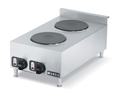 Vollrath 40739 2-Burner Countertop Hot Plate - Stainless 240v