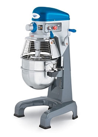 Vollrath 40758 30-qt Floor Mixer with Guard - 3 Speed, #12 Attachment, Timer, 1HP 110v