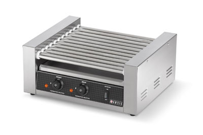 Vollrath 40821 7-Roller Hot Dog Grill - 18 Capacity, Temperature Control, 120v