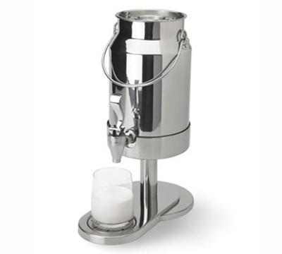 Vollrath 4635110 5-qt Milk Dispenser - Handles, Pedestal Base, Stainless