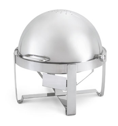 Vollrath 46360 6-qt Round Roll-Top Chafer - Stainless