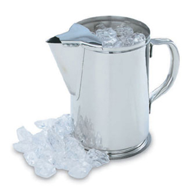 Vollrath 46402 2-qt Water Pitcher - Hollow Handle, Ice Guard, Stainless