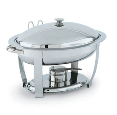 Vollrath 46500 6-qt Oval Heavy-Duty Chafer - Built-In Cover Holder, Mirror-Fi