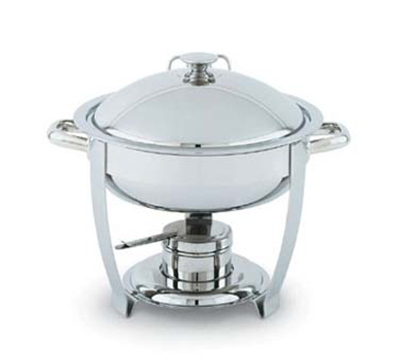 Vollrath 46502 6-qt Round Heavy-Duty Chafer - Built-In Cover Holder, Mirror-Finish Stainless