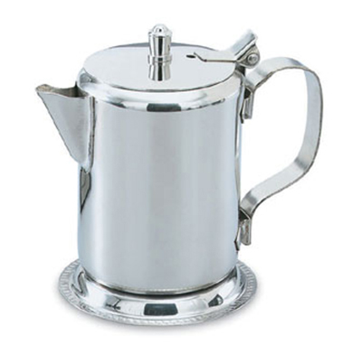 Vollrath 48317 16-oz Creamer/Server - Hinged Cover, Gadroon Base, Silverplated