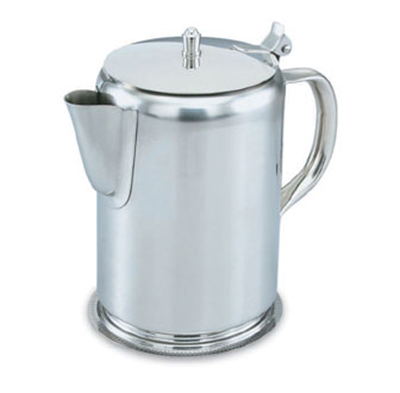 Vollrath 48365 2-qt Coffee Server - Hinged Cover, Gadroon Base, Silverplated