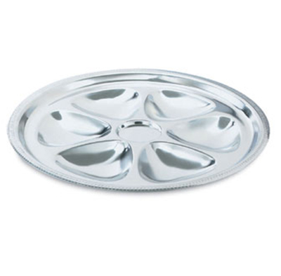 Vollrath 46745 6-Hole Oyster Plate - Stainle
