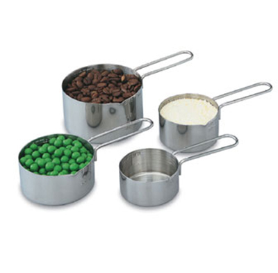 Vollrath 47119 4-Piece Measuring Cup Set - 18-ga Stainless