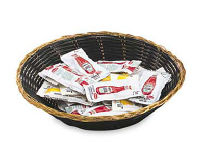 "Vollrath 47208 9-1/2"" Oval Cracker Basket - Blac"