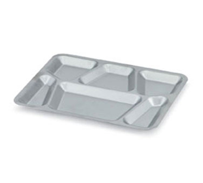 Vollrath 47252 Six-Compartment Mess Tray with Lugs - 15-1/2x11-5/8&quot