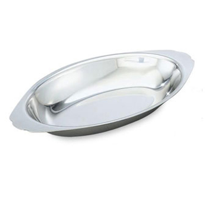 Vollrath 47425 15-oz Oval Au Gratin Pan - Stainless