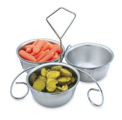 Vollrath 47631 Three-Way Server - (3)12-oz Bowls, Stainless