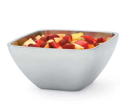 Vollrath 47675 5.2-qt Square Plain Insulated Bowl - Mirror-Finish Stainless