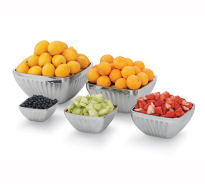 Vollrath 47684 8.2-qt Square Plain Insulated Bowl - Satin-