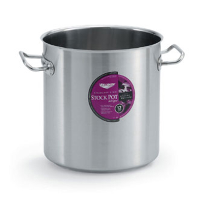 Vollrath 47724 38-qt Stock Pot - Aluminum Bottom, 18-ga Stainless