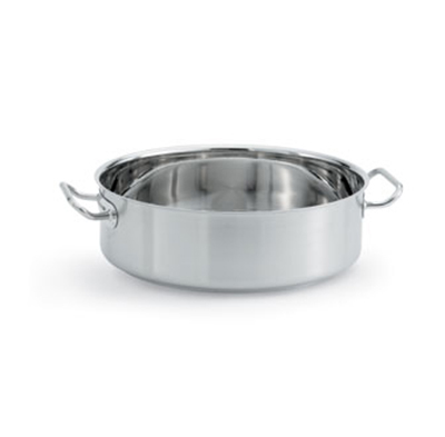 Vollrath 47762 24-qt Brazier/Casserole - Aluminum Bottom, 18-ga Stainless