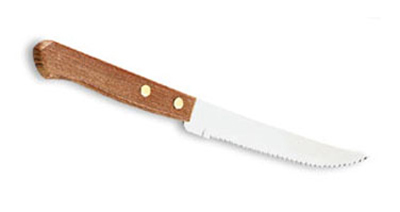 "Vollrath 48140 Steak Knife - 4-3/8"" Blade, Hollow Ground Blade, Wood Handle"