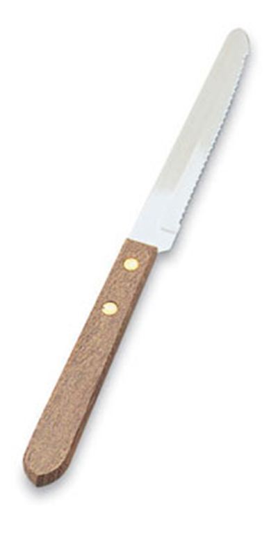 Vollrath 48147 Steak Knife - Round Tip, Wood Handle